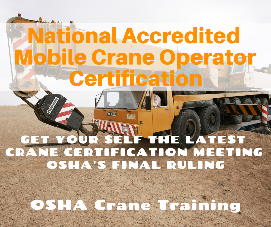 National Accredited Mobile Crane Operator Certification